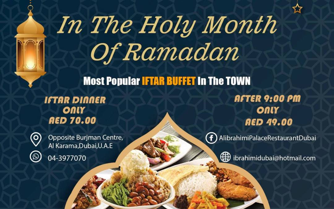 Ibrahimi Restaurant Ramadan Iftar Offer