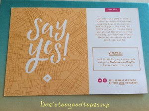 Birchbox June 2015 Say Yes