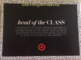 Head of the Class Card
