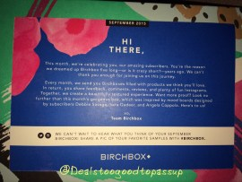 Birchbox September 2015 2