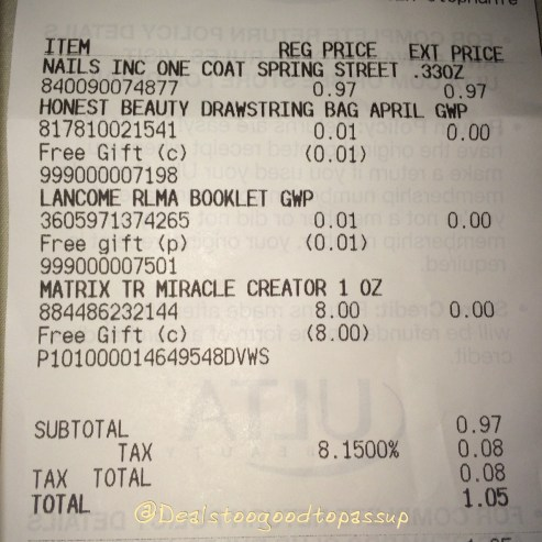 Ulta Gift With Any Purchase 2