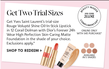 Sephora Promo Codes 2020 Luxe April