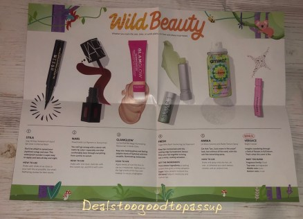 Sephora Play! March 2020 Review - Beauty in the Wild Product List