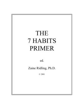 THE 7 HABITS PRIMER {EBook} | DeAltar