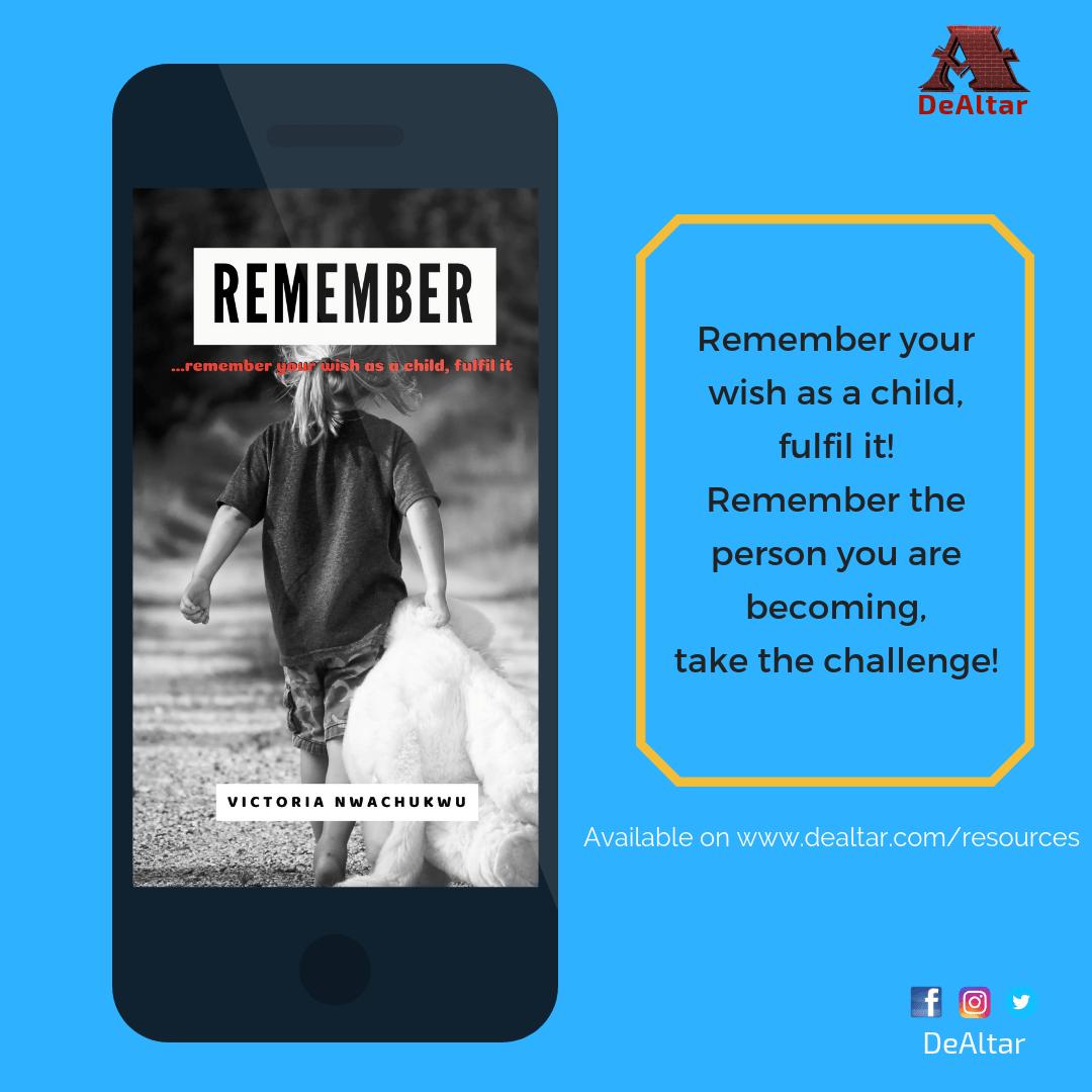 Remember By Victoria Nwachukwu {EBook}