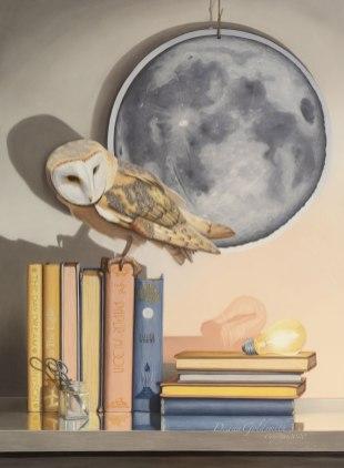 """Paper Moon"" Original framed to 32x40"" $7,500"