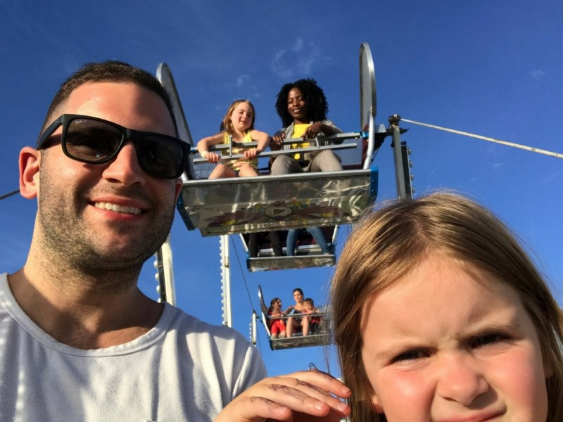 Dean and Kids on Carnival Ride