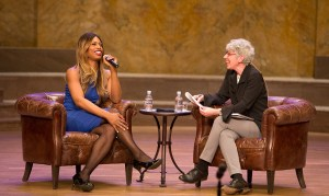 Laverne Cox and Jill Dolan. Photo by Denise Applewhite, Office of Communications.