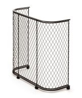 Tall curved fire guard with ball feet. Please check for availability