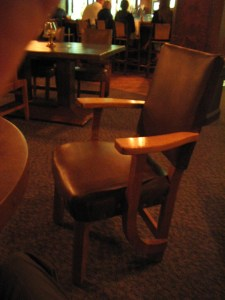 Chair in the Bear Pit Lounge, photo by The Jab, 2003