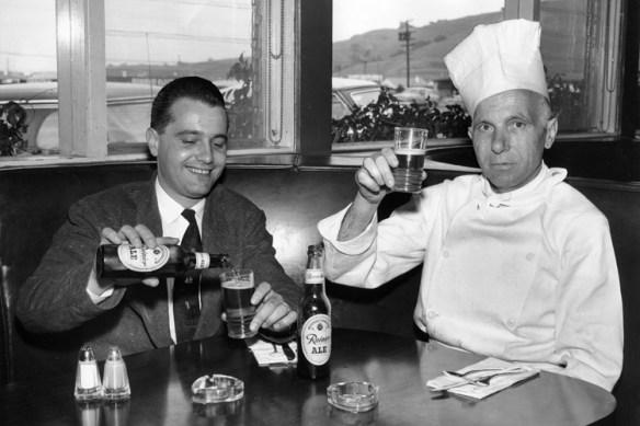 Adolph (R) and Paul (L) Della Santina in Marin Joe's