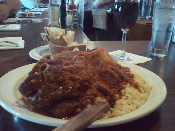 Osso Buco with rice Wednesday lunch special. Photo by The Jab.