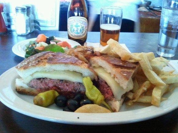 Marin Joe's special cheeseburger. Photo by The Jab.