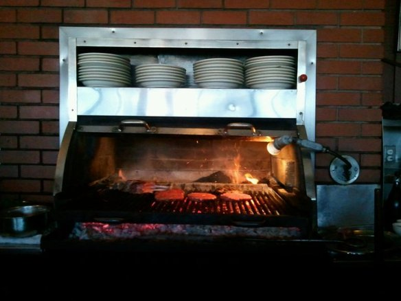 Mesquite grill in action. Photo by The Jab.