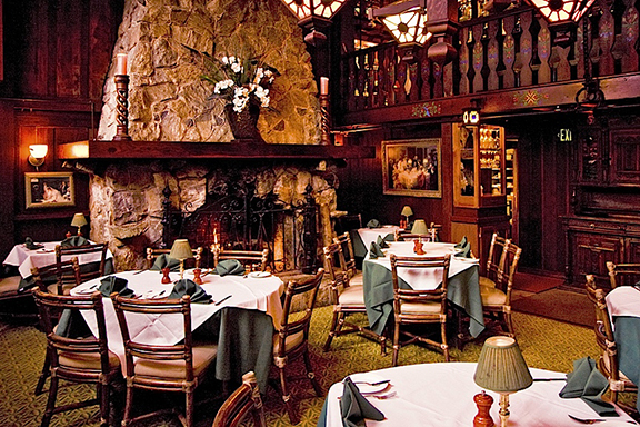 the original dining room today (also called the fireside room) - image by Shadowbrook's website