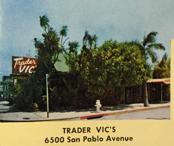 Trader Vic's, Oakland, c. 1960 via tikiroom.com
