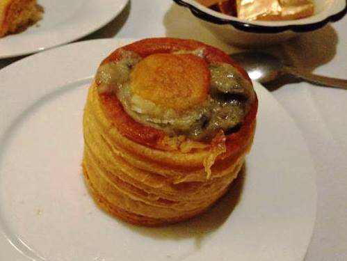 puff pastry stuffed with mushrooms in a creamy sauce - photo by Dean Curtis, 2016