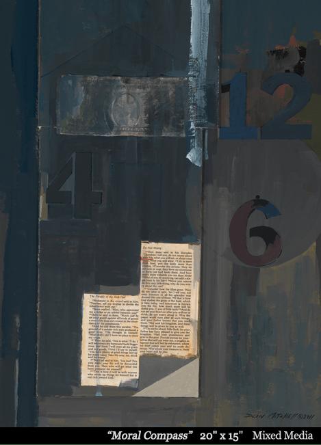 "Moral Compass 20"" x 15"" Acrylic"