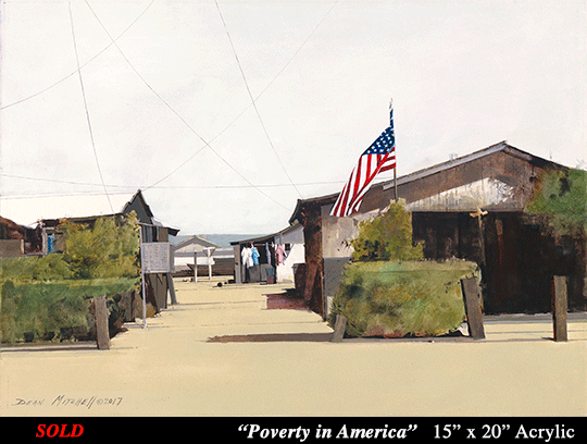 Poverty in America 15 x 20 Acrylic