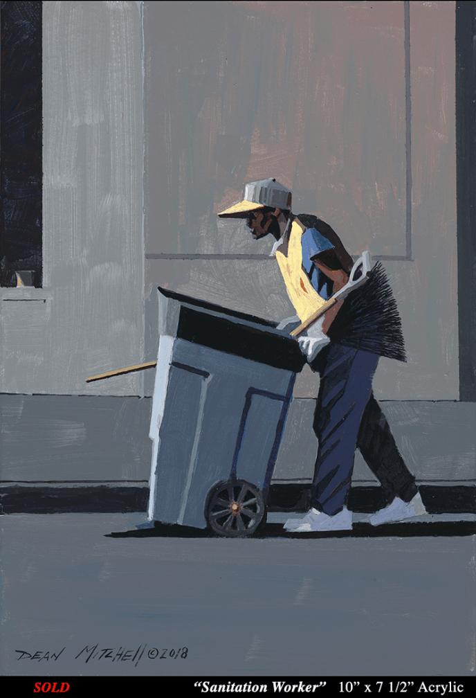 Sanitation Worker 10 x 7 1/2  Acrylic