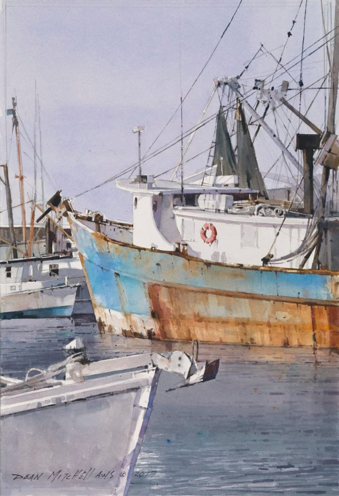 """<strong style=""""color: red;"""">SOLD</strong>   """"On the Gulf""""  15"""" x 10""""  Watercolor"""