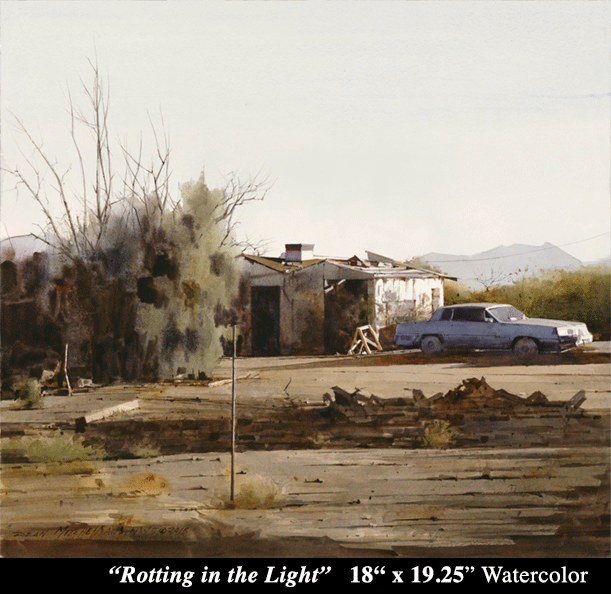 "Rotting in the Light 18"" x 19.25""- Allied Artist of America 2108 Dale Meyers Cooper Medal"
