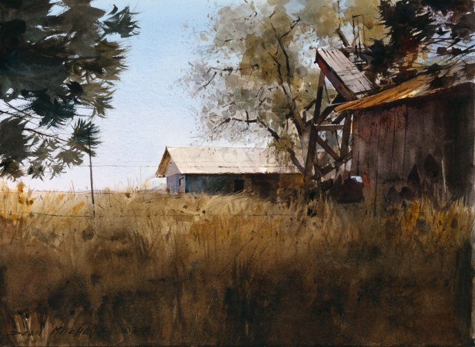 """Rustic West""  10"" x 15""  Watercolor"