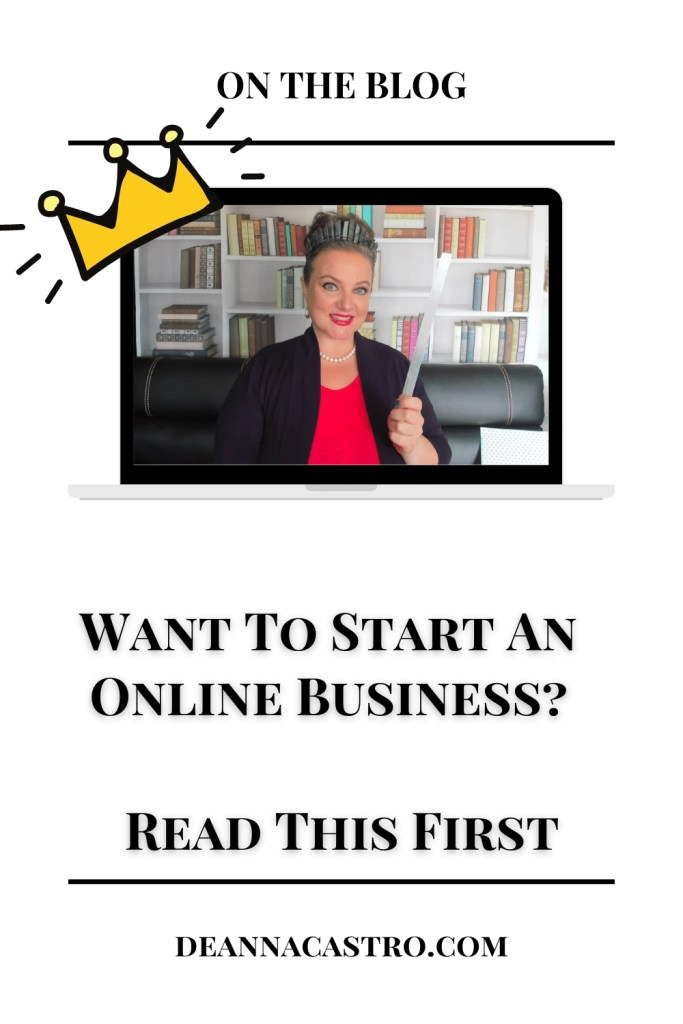 Your Business Fairy Godmother with wand and text that says Want To Start An Online Business