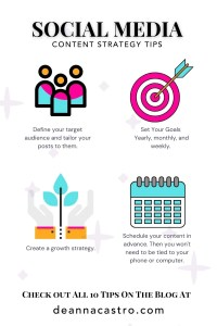 Social Media Content Strategy Tips Infographic