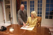 Billie Dawn in Born Yesterday @ Florida Rep; photo by Chip Hoffman; With Chris Clavelli