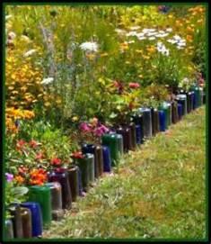 Wine Bottle Garden