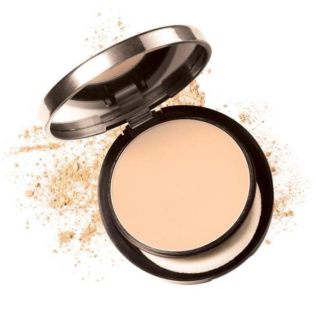 Avon's mark. Powder Buff Natural Skin Foundation
