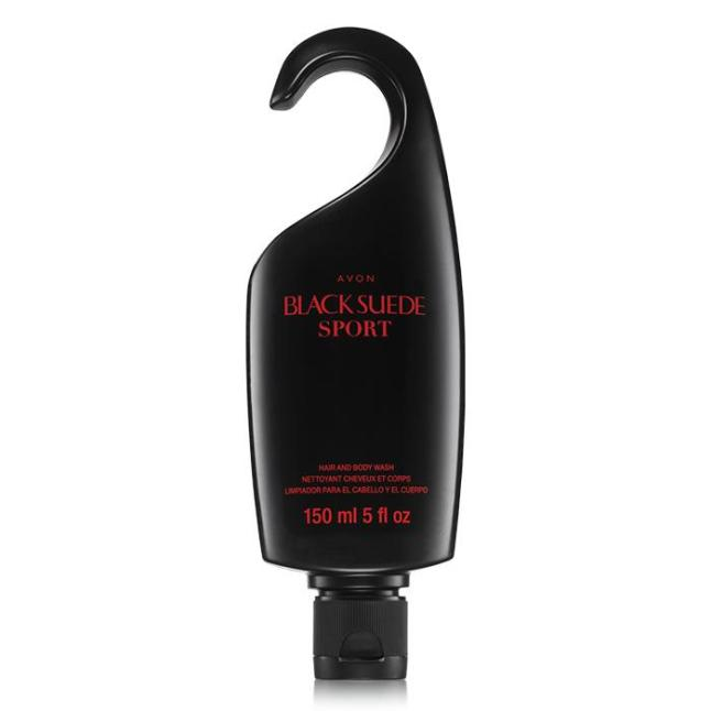 Avon Black Suede Sport Hair & Body Wash