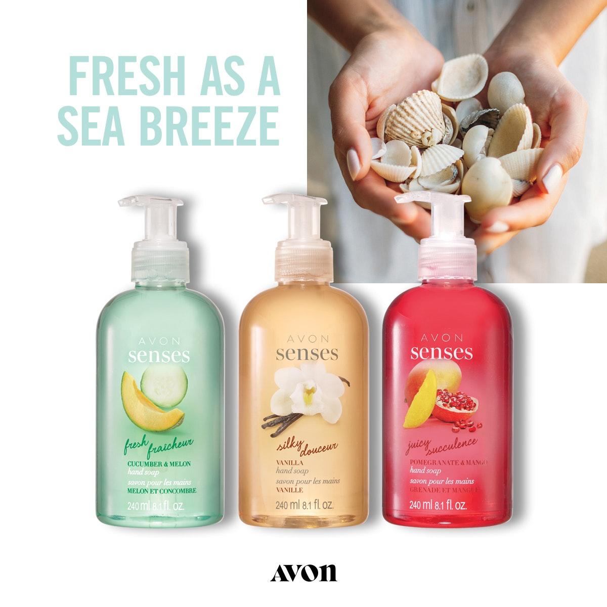 senses liquid hand soaps