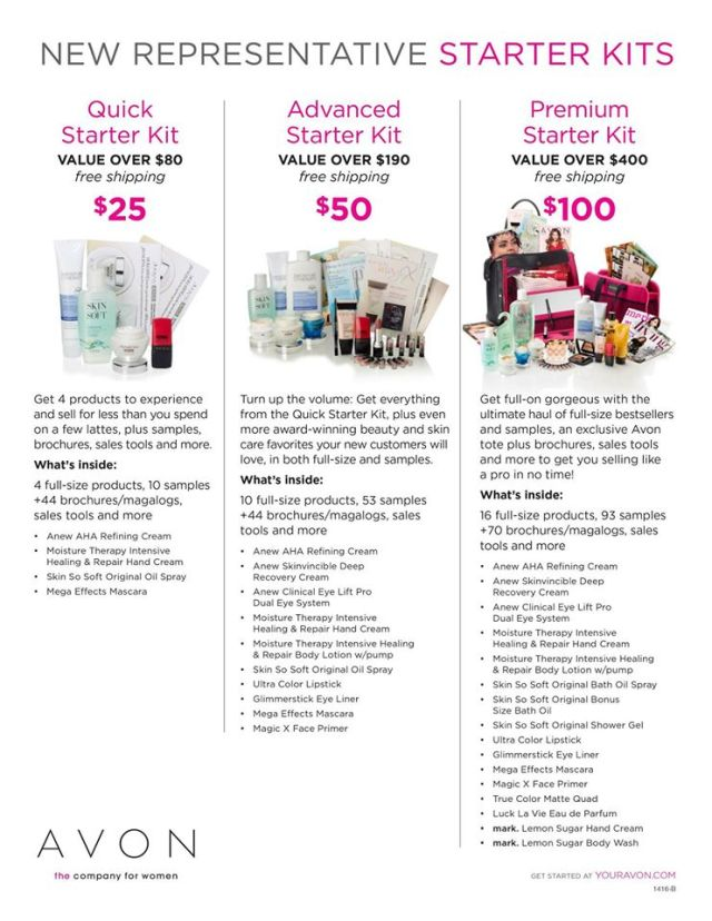 Signing Up To Sell Avon Online