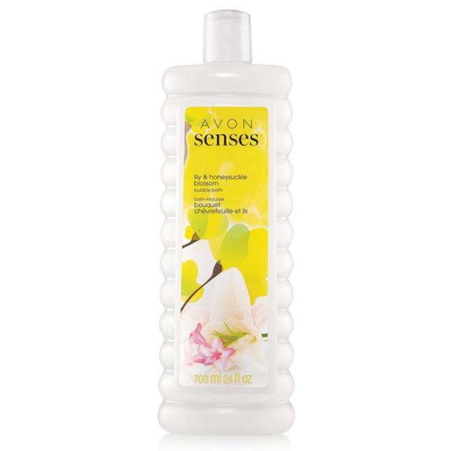 Avon Senses Lily and Honeysuckle Blossom Bubble Bath