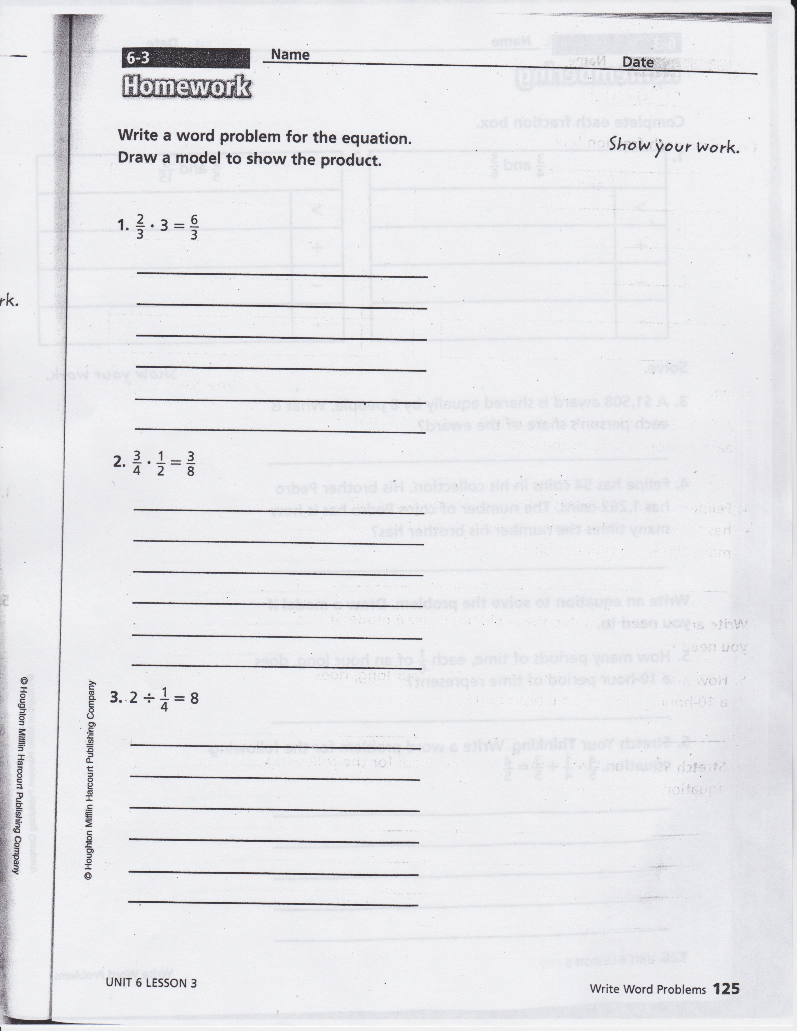 Math Expressions Grade 5 Homework And Remembering Volume 2