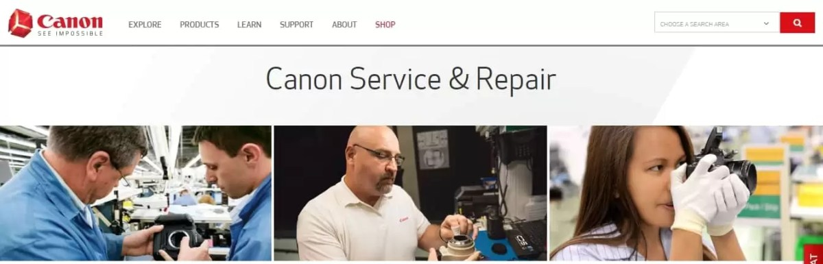 canon binocular repair services