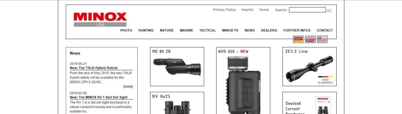 MINOX German made binoculars brand