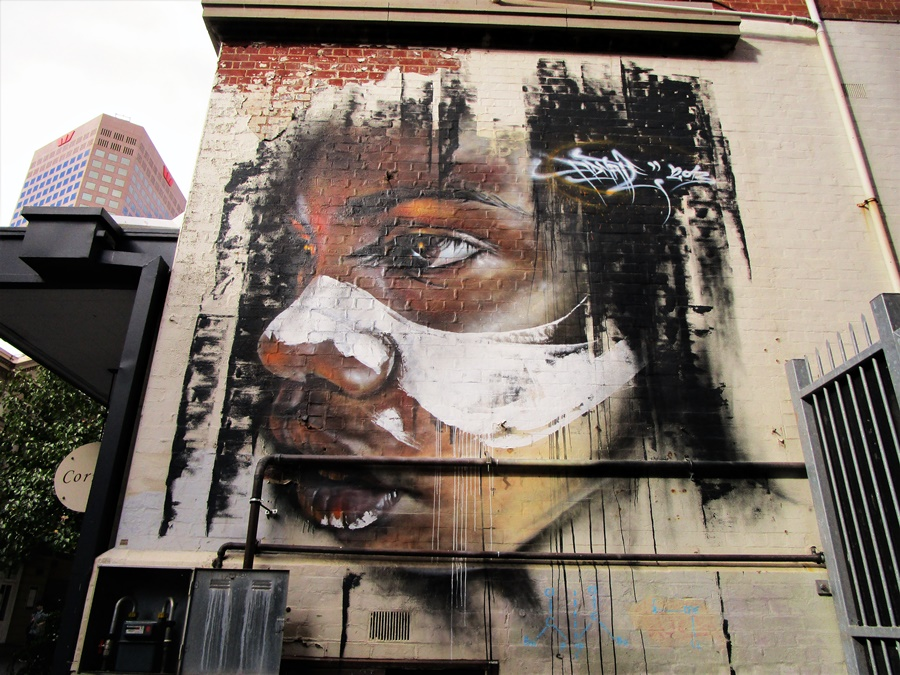Indigenous Australian Street Art by Adnate