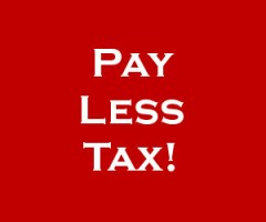 Pay less tax!
