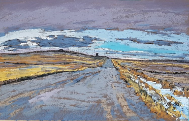 landscape painting in pastel by Dean Tatam Reeves