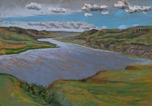 Travers Reservoir, pastel on paper, 2017 Dean Tatam Reeves