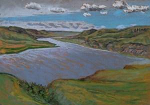 Travers Reservoir, pastel on paper, 2017 Dean Tatam Reeves