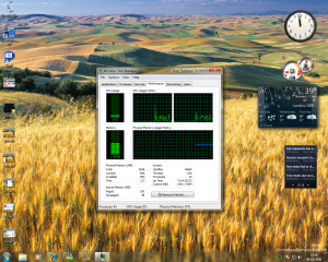 Desktop Showing Task Manager