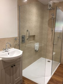 Windermere - The walk-in shower and basin, completed