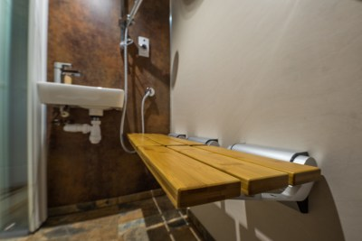wooden shower seats, disabled alterations