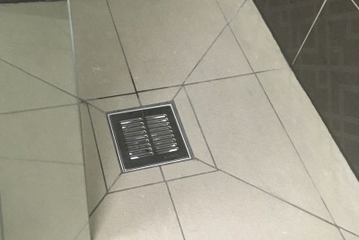 wetroom floor, tiles