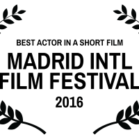 BEST ACTOR IN A SHORT FILM – MADRID INTL FILM FESTIVAL – 2016