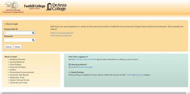 My Portal Login Page